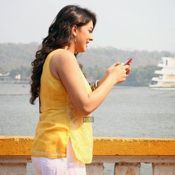 Hansika Motwani in a still from the Tamil movie Meagaamann.