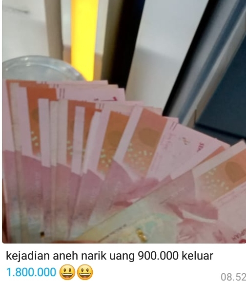 Mesin ATM Keluarkan Uang Dua Kali Lipat? Kisah Selanjutnya Patut Dicontoh!