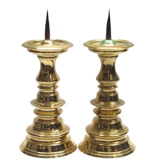 Virginia Metalcrafters Brass Candlesticks