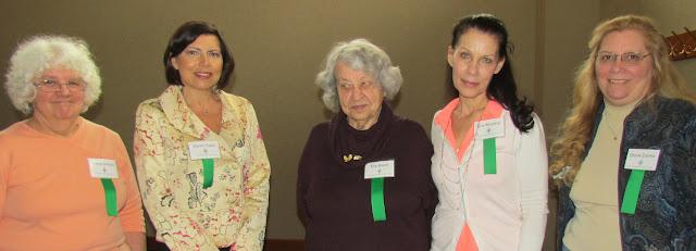 2014 Library talk volunteers, L to R: Tanya Sharon, Karen Faett, Ella Baker, Sue Murphy, Diane Eanes