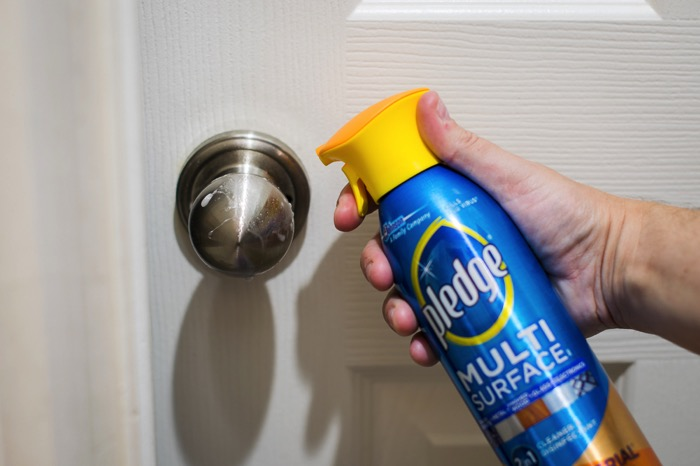 Pledge antibacterial spray