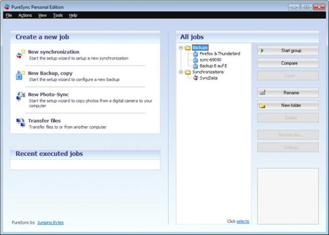 برنامج المزامنة وعمل النسخ الاحتياطية PureSync v4.2.2 لويندوز