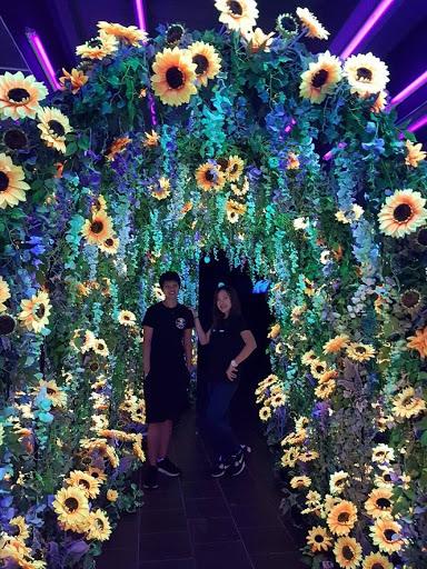 Flower wall at Dark Mansion in Georgetown Penang