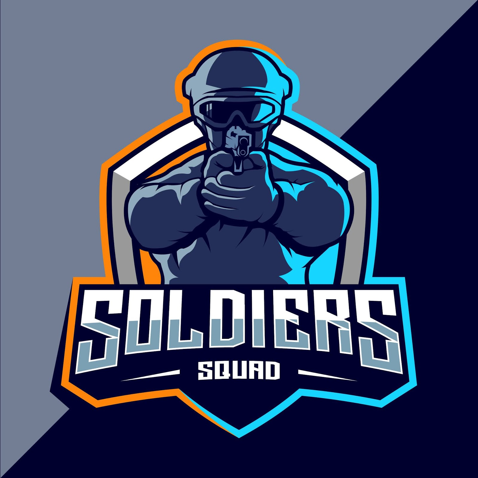 Soldier Mascot Esport Logo Style Free Download Vector CDR, AI, EPS and PNG Formats