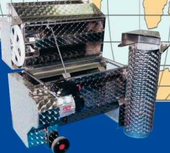 Επαγγελματικός απορογιτής-διαχωριστήρας Enoitalia τύπου Jolly 25/E ανοξείδωτος (inox), με ανοξείδωτη (inox) αντλία