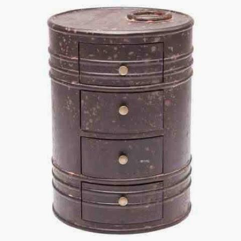 oil drum can drawer dresser