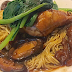 How to cook Soya Sauce Chicken Noodles with Mushrooms and Sea Cucumber?