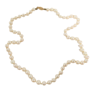 Pearl and 14K Gold Necklace 2