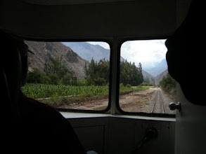 Photo: マチュピチュへ 車窓を楽しみながら
