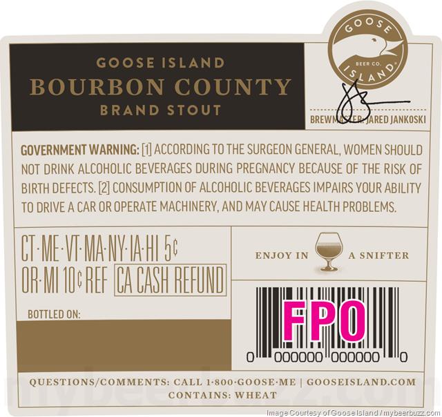 Goose Island - Bourbon County Brand Stout 2018