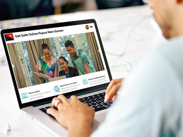 Get -Safe- Online Tok Pisin website