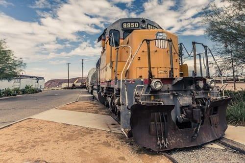 Union Pacific Train Barstow Railroad museum Route 66 California