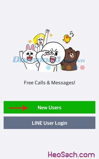 Hình 2 - Cách đăng ký tài khoản LINE trên điện thoại