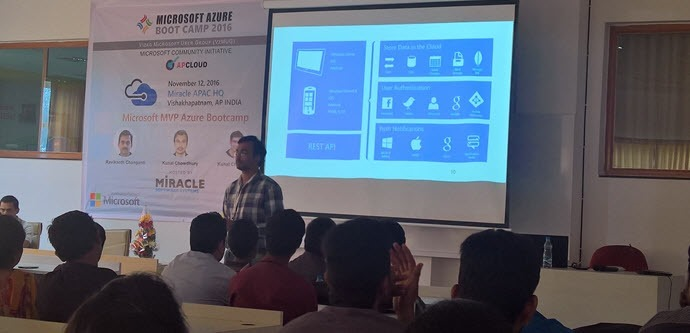 Delivering session on Azure Mobile Service (www.kunal-chowdhury.com)