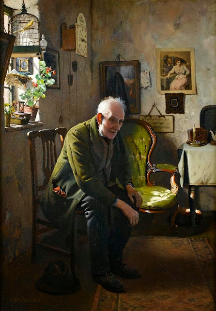 Charles Spencelayh - The empty chair