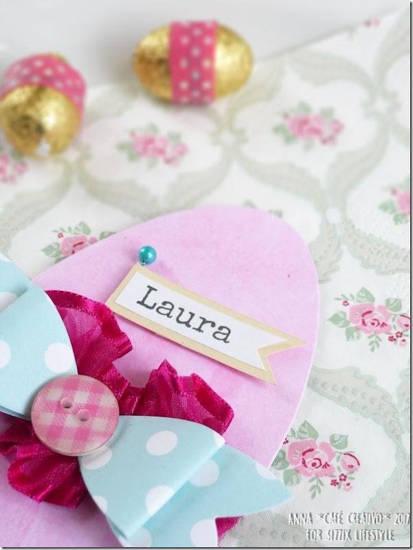 Big Shot e Fustella Sizzix Bigz Easter Egg per segnaposti di Pasqua
