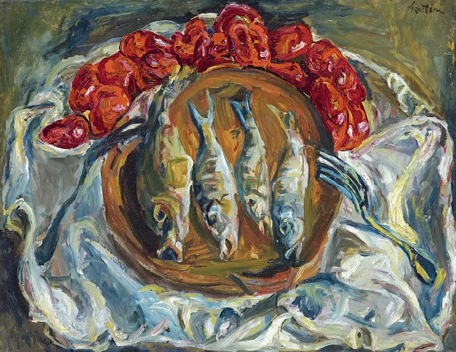Chaim Soutine - Poissons et Tomates