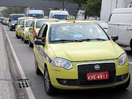 Taxis in Rio de Janeiro Brazil