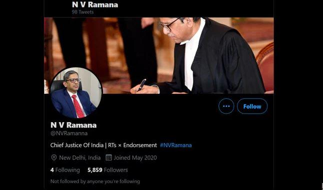 CJI twitter fake account created! | ನಕಲಿ ಟ್ವಿಟ್ಟರ್ ಖಾತೆ: ಮುಖ್ಯ ನ್ಯಾಯಮೂರ್ತಿ ರಮಣ ಪೊಲೀಸರಿಗೆ ದೂರು!