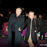 WWW.ENTSIMAGES.COM - Leigh Lawson and Twiggy  arriving  at  Cirque Du Soleil: Kooza VIP Royal Albert Hall London January 8th 2013                                                       Photo Mobis Photos/OIC 0203 174 1069