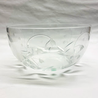 Tiffany & Co. Floral Glass Bowl
