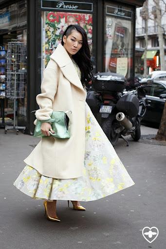 Tina Leung; stylist; Celine coat; Rochas dress; Rochas bag; Giuseppe Zanotti shoes;