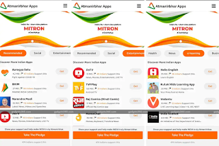 Mitron, the homegrown short-form video sharing app, has launched Atmanirbhar Apps on Google Play as a platform to discover apps made In India for varied services and needs. Atmanirbhar Apps looks to take forward Indian Prime Minister Narendra Modi's Atmanirbhar Bharat initiative, providing a quick portal for indigenous apps to users.