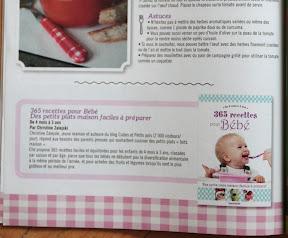 recettes pour bébé Cubes et Petits pois dans le magazine Côté Famille