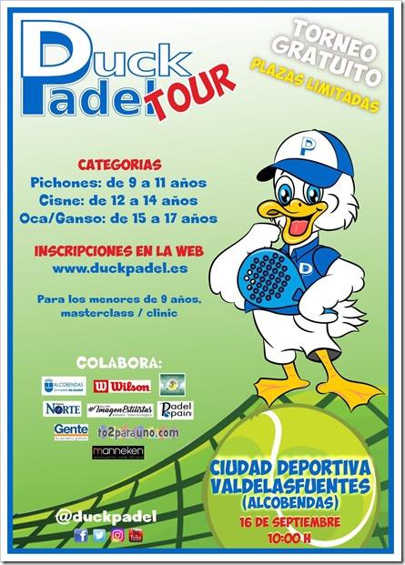 Duck Pádel vuelve al cole con un torneo gratuito para los más pequeños el 16 septiembre de 2017.