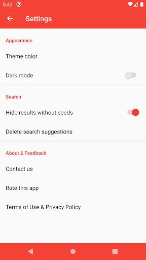 Torrent Revolution per Android