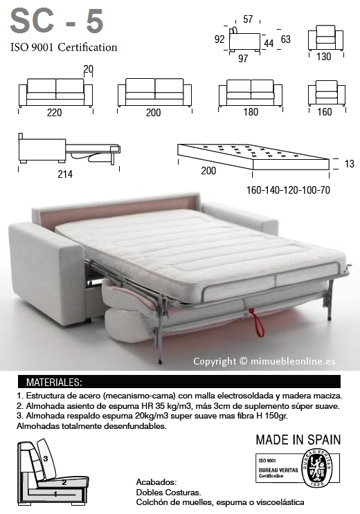 Sof cama sc 5 for Cama full medidas