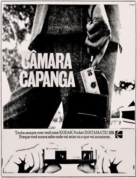 anuncio câmera Kodak - 1974