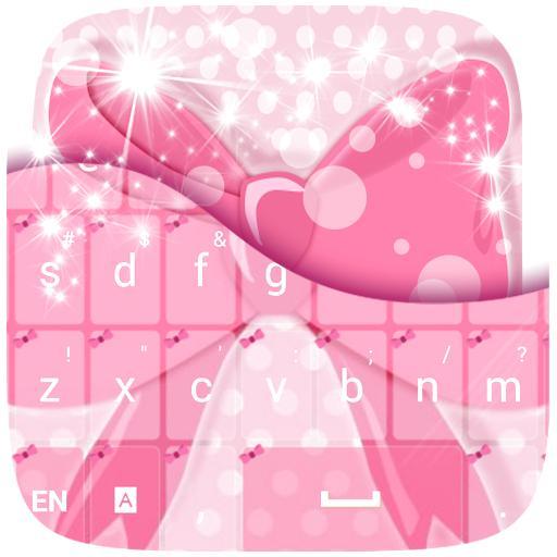 粉色蝴蝶結鍵盤 個人化 App LOGO-APP試玩