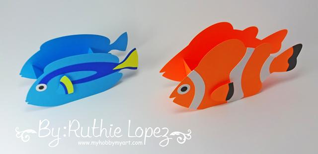 Nemo - Dory - Buscando a Nemo - Buscando a Dory - Finding Dory - Finding Nemo - Ruthie Lopez - My Hobby My Art 5