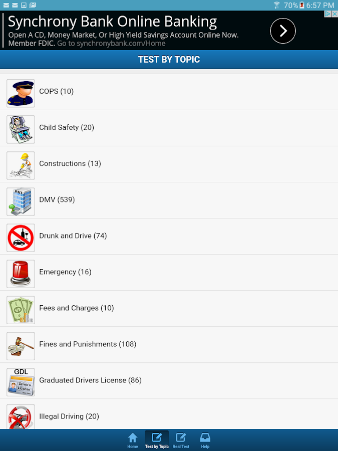 North Carolina Driving Test- screenshot