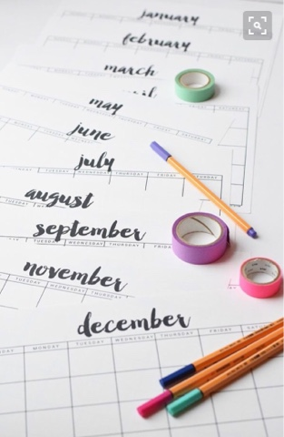 blank any year calendar