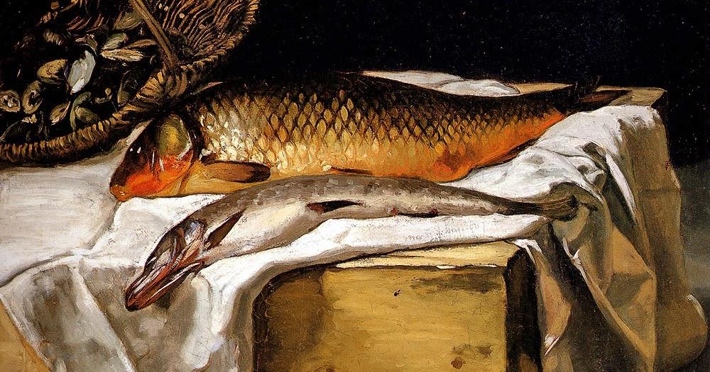 Testclod nature morte avec des poissons fr d ric bazille for Donner des poissons