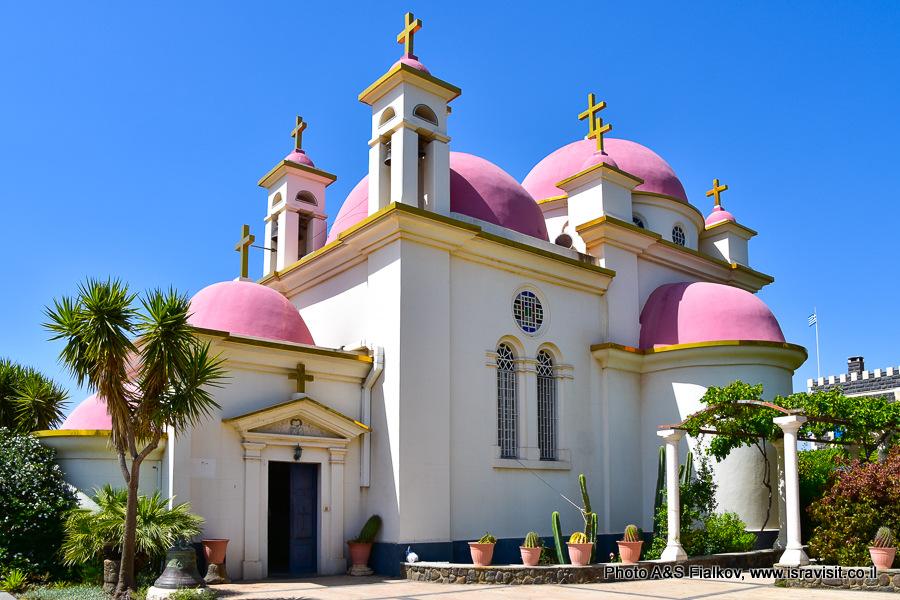 Православная церковь 12 апостолов на Кинерете в Капернауме. Гид Светлана Фиалкова.