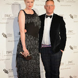 WWW.ENTSIMAGES.COM -   Gwendoline Christie and Giles Deacon     arriving at       IWC Schaffhausen and BFI London Film Festival - private dinner at Battersea Evolution, London October 7th 2014Swiss watch brand and British Film Institute host party to celebrate their three year partnership.                                                Photo Mobis Photos/OIC 0203 174 1069