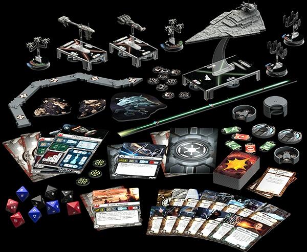 Contenido de Star Wars Armada caja básica