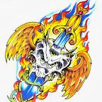 dagger fire - tattoos ideas