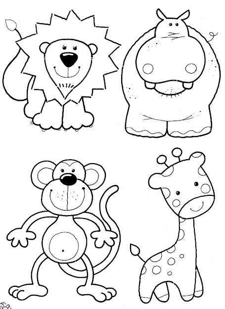 Felt Craft Inspiration Animals For Baby Quilt Already Pinned To My Colour  It  Animal Coloring Pageschildren