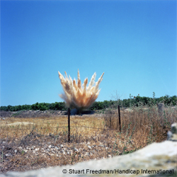 Destruction of  cluster munitions, South Lebanon