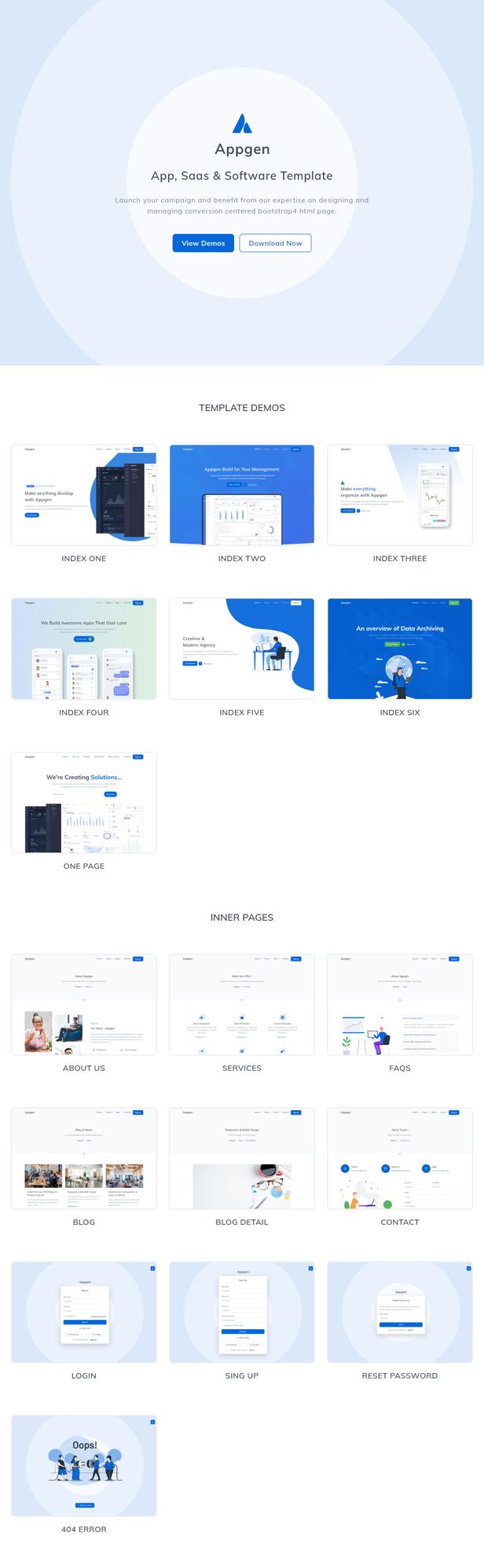 Appgen - App, Saas & Software Landing Page Template - 1