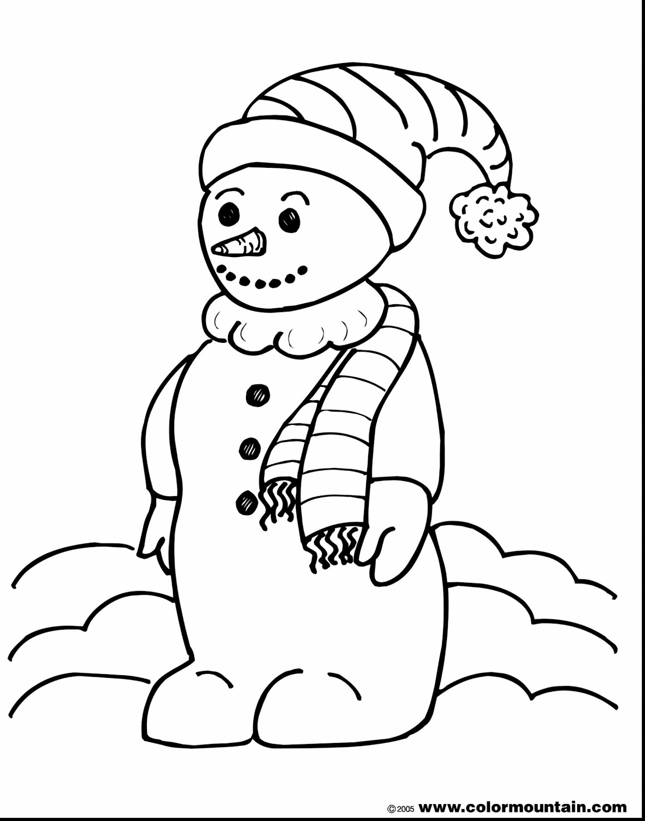 Snowman - Free Coloring Pages
