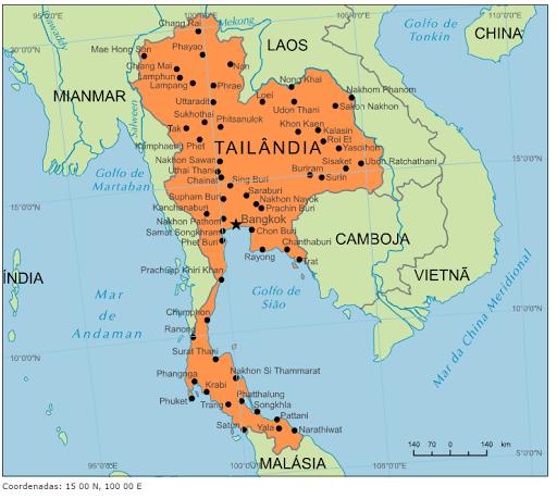 mapa da tailandia Blog de Geografia: Mapa da Tailândia mapa da tailandia