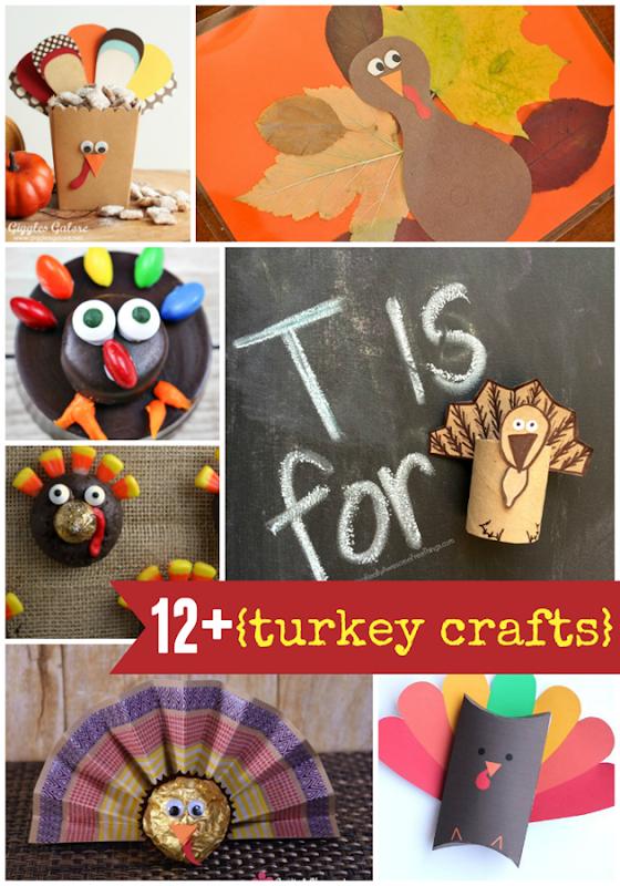 12  Turkey Crafts at GingerSnapCrafts.com #turkey #turkeycrafts #crafts