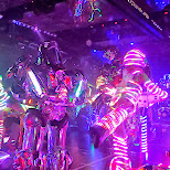 neon lightshow robots at the Robot Restaurant in Kabukicho in Kabukicho, Tokyo, Japan