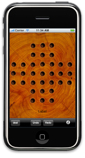 One By One Solitaire in iPhone Simulator