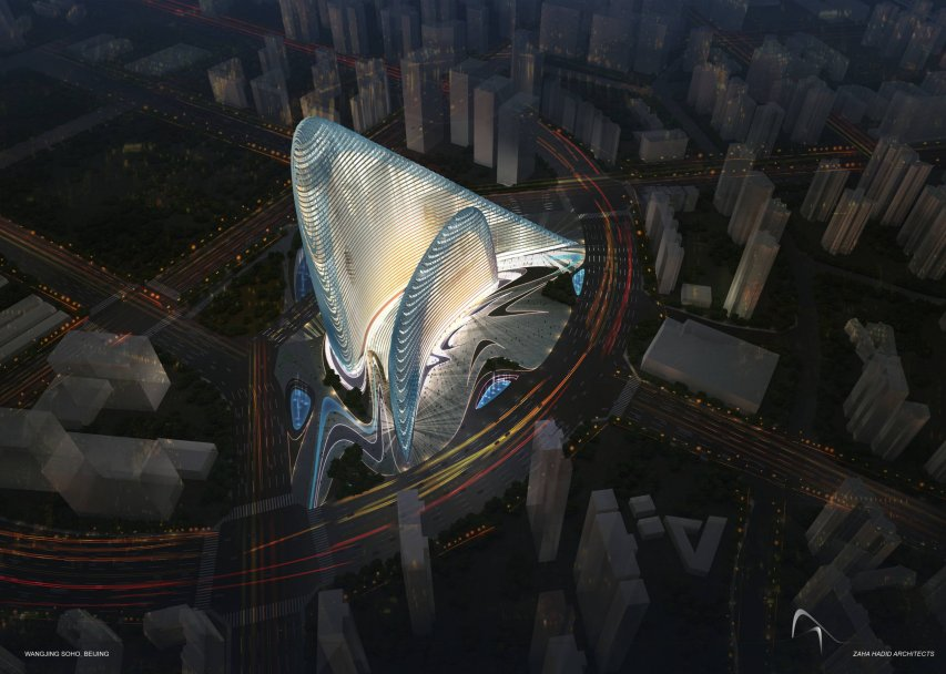 Wangjing Soho design by Zaha Hdid Architects